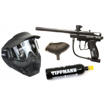 Spyder Victor Paintball Gun Package - Mask with Bottle and Hopper