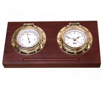 Weems & Plath Porthole Clock and Barometer Desk Set