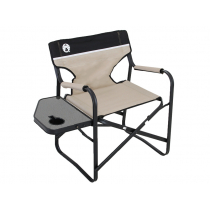 Coleman Directors Plus Chair with Side Table - Steel
