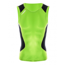 Aropec Mens Compression Singlet Lime/Black XL