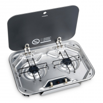 Dometic PI8022 Two Burner Gas Stove with Glass Lid