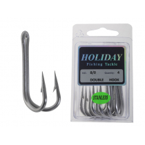 Holiday Stainless Steel Double Hook 8/0 Qty 4