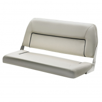 V-Quipment First Class Deluxe Folding Bench Seat White with Dark Blue Seams