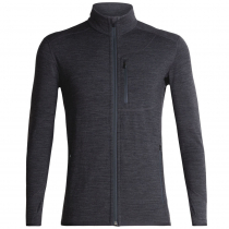 Icebreaker Mens Merino Descender LS Zip Heather