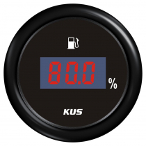 KUS Digital Fuel Level Gauge Plastic Bezel Black