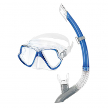 Mares Dolphin Combo Mask and Snorkel Set Blue/Clear