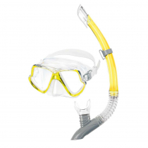 Mares Dolphin Combo Mask and Snorkel Set Yellow/Clear