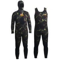 Aropec Open Cell Camouflage Mens Spearfishing Wetsuit 5mm 2pc