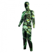 Aropec Mens Open Cell Camo Green Spearfishing Wetsuit 3mm 2pc