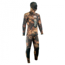 Aropec Mens Open Cell Camo Brown Spearfishing Wetsuit 5mm 2pc