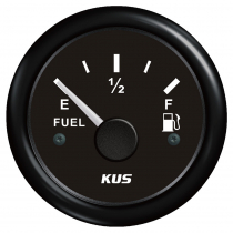 KUS Fuel Level Gauge Plastic Bezel 0-190 Black