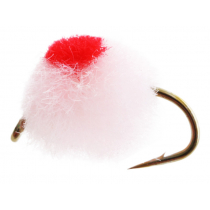 Black Magic Unweighted Mini Globug Trout Fly Champ Red A14