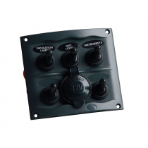 BEP Marine 5 Way Switch Panel with Waterproof Socket