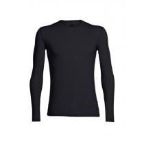 Icebreaker Merino Mens Anatomica Long Sleeve Crewe Shirt Black S