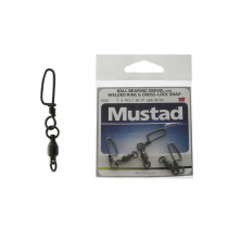 Mustad Ball Bearing Swivel with Cross-Lock Snap