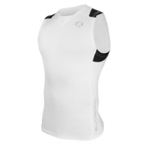 Sharkskin Compression R-Series Mens Sleeveless Top White