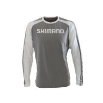 Shimano Technical Long Sleeve Shirt Grey/White