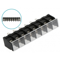 Terminal Block with Clear Cover 6-Way