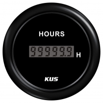 KUS Digital Hourmeter Plastic Bezel Black