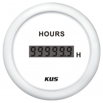 KUS Digital Hourmeter Plastic Bezel White