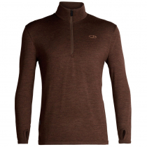 Icebreaker Mens Merino Original Long Sleeve Half Zip Sweater Bronze Heather