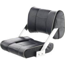 V-Quipment Ferry Helm Seat with Adjustable Backrest Dark Blue with White Seams