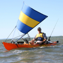 Pacific Action Canoe Sail Blue Yellow