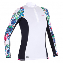 OLAIAN Long Sleeve Womens Surfing Top Snow White XL