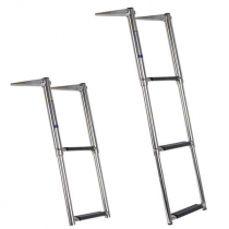 Oceansouth Telescopic Stainless Steel 3-Step Ladder