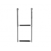 Oceansouth Telescopic Stainless Steel 2-Step Ladder