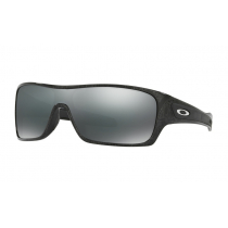 Oakley Turbine Rotor Sunglasses Ghost Text Frame/Black Iridium Lens