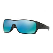 Oakley Turbine Rotor PRIZM Polarised Sunglasses Black Frame/Deep Water Lens