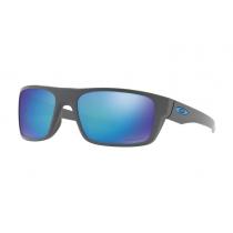 Oakley Drop Point PRIZM Polarised Sunglasses Dark Grey Frame/Sapphire Lens