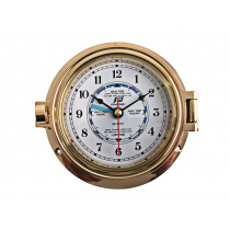 Plastimo Brass Tide and Time Clock 4.5in