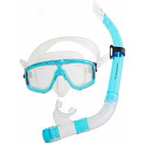 Mirage Cruise Silicone Mask and Snorkel Set Transparent Blue