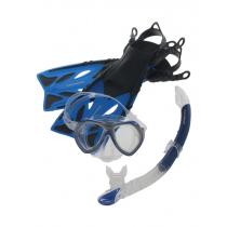 Mirage Crystal Junior Mask Snorkel and Fins Set Blue S/M