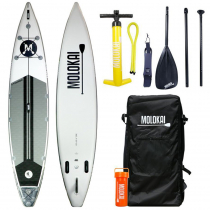 Molokai I-Tourer Inflatable Stand Up Paddle 12ft White/Grey