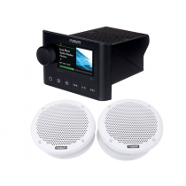 Fusion MS-SRX400 Apollo Marine Zone Stereo Package with Speakers