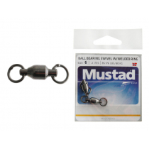 Mustad Ball Bearing Swivel with Welding Ring 176lb Size 6 Qty 2