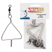 Nacsan Triangle Setline Clip 10 pack
