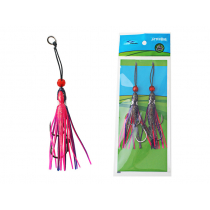 Ocean Angler Jitterbug Replacement Assist Rig Purple Red 2.5in Qty 2