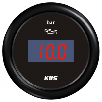 KUS Digital Oil Pressure Gauge Plastic Bezel Black