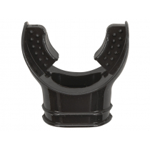 Narrow Standard Silicone Mouthpiece for Dive Regulators Black
