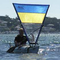 Pacific Action Kayak Sail Blue Yellow