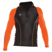 Sharkskin Performance Wear Mens Long Sleeve Rash Top Orange XL