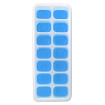 Silicone Ice Cube Tray with Lid Blue