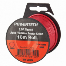 Heavy Duty General Purpose Power Cable 7.5A Tinned 10m Roll
