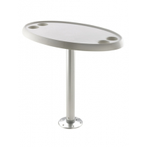 V-Quipment Fixed Height Oval Table with Removable Pedestal and Base Plate 68cm