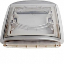 MPK 290 x 290mm 4 Way Roof Vent with Clear Tint Dome