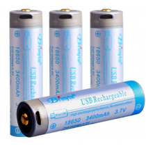 Spare 18650 Lithium Battery USB Direct Charge